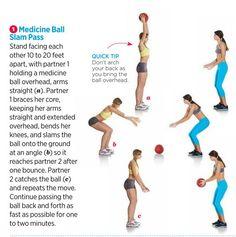 [Partner Workout]  - Medicine Ball Slam Pass