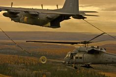 C-130 Hercules with a Sikorsky BlackHawk