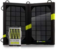 Light up the night with campsite ambiance, powered by Goal Zero solar charger.