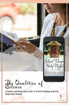 The Qualities of Silence. A book review of Silent Days, Holy Night- a heart-warming story that is worth reading anytime. Find the review AtGrandmasPlace.com