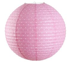 Färg och form - Färg & form, Prickig, Riisipaperivarjostin 50 cm, Vaaleanpunainen