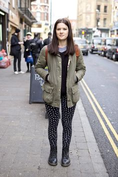 Barbour Liberty Beadnell and spotty leggings
