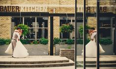Taylor Jackson Photography. The Bauer Kitchen wedding venue. Restaurant wedding.
