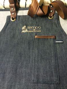 Custom made chef apron #chef #apron #denim #selvage #selfedged #leather #sartorandvillain