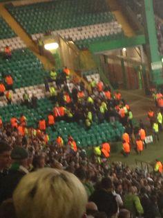 Maribor fans at parkhead, Glasgow