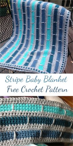 Stripe Baby Blanket Free Crochet Pattern