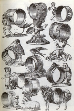 American Figural Victorian Napkin Rings: Do you know what is real from what is fake?