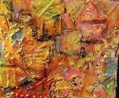 Joint compound and acrylic on wood by Holly Wilson mixed media art ideas
