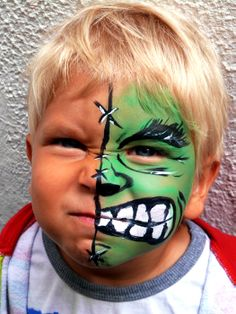 Hulk Facepaint Barcelona, www.caramona.es offers a facepainter for children's parties in Barcelona! Great for Birthdays and events! maquillaje para los niños Barcelona