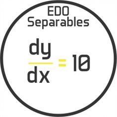 Ecuaciones diferenciales ordinarias por separación de variables