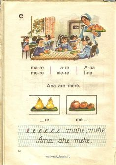 Ana are mere - Abecedar Romanian Language, Childhood Memories 90s, Nostalgia, Vintage School, Alter, Card Games, Education, Learning, Books