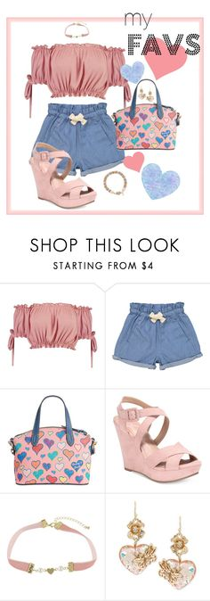"""""""hearts"""" by traceyenorton ❤ liked on Polyvore featuring Boohoo, Tootsa MacGinty, Dooney & Bourke, American Rag Cie and Betsey Johnson"""