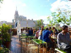 Hotel de las Letras best rooftop bar in madrid, by Naked Madrid