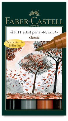 Classic Colors, Set of 4. Pitt big brush artist marker sets