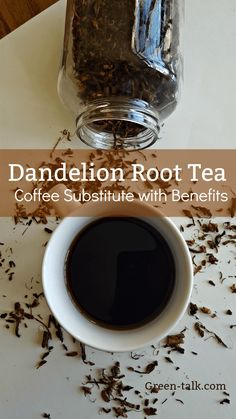 Dandelion Root Tea is a great substitute for coffee with the added benefits of mineral and vitamins. Learn how to make your own dandelion tea. Tea Recipes, Coffee Recipes, Dandelion Tea Benefits, Dandelion Root Tea, Dandelion Tea Detox, Dandelion Plant, Dandelion Flower, Dandelion Recipes, Healthy Recipes