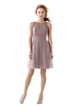 Alfred Angelo 8611 S Bridesmaid Dress | Weddington Way color: cameo. Also available in floor length
