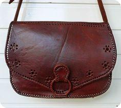 VINTAGE LEDER Tasche Schultertasche Saddle Bag Boho Messenger Hippie Crossover in Kleidung & Accessoires, Damentaschen | eBay