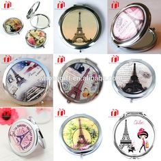 Red Compact Mirror Paris Party Favors