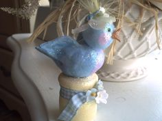 Pretty Is .: Of Bluebirds and Teacups. Bluebirds, Paper Clay, News Blog, Teacups, Sculpting, Holidays, Pretty, Projects, Art