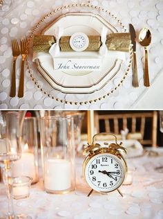 More click [.] Totally Inspiring New Years Wedding Favors Ideas Eve Party New Years Eve Table Decorations Gold And Glitter Totally Promotional New Years Eve Table Decorations Festive New Years Dinner Party Decor New Years Dinner Party, Nye Party, Gold Party, New Years Wedding, New Years Eve Weddings, Wedding Favours New Years Eve, Wedding Favors, New Years Eve Decorations, Party Table Decorations