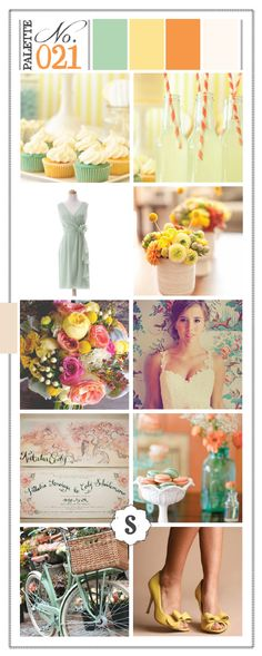 Color Inspired: Mint, Mustard, Tangerine and Ivory