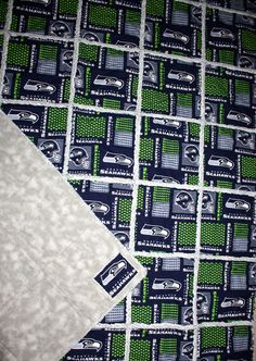 Seattle Seahawks Rag Quilt  FREE Priority Shipping by RAGGEDYnANN