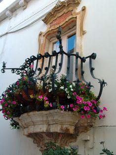 Beautiful balcony in Locorontondo, Italy