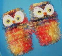 THE-CUTEST-EVER-OWL-WRIST-WARMERS-FINGERLESS-GLOVES-LADIES-TEENS-KNITTED