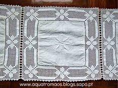 toalha quadrados linho crochet