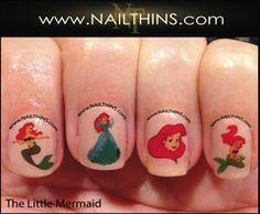 Mermaid NAILTHINS Nail Decal Ariel Nail Art The Little Mermaid Nail Designs