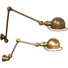Pair of Vintage Jielde French Wall Mount Lamps | From a unique collection of antique and modern wall lights and sconces at http://www.1stdibs.com/furniture/lighting/sconces-wall-lights/
