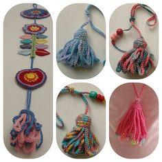 Crochet tassels - photo tutorial. http://tintocktap.blogspot.co.uk/2012/03/crochet-tassels.html