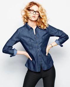 Eileen Fisher Tencel Denim Shirt