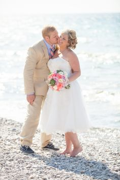Navy & Peach Bay Harbor, Michigan Destination Wedding|Erin & Matthew | Wedding Colors