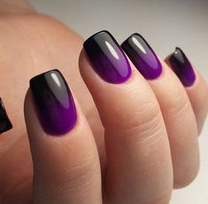 71 Best Inspirational Ombre Nails Idea You Should Try For Summer 2019 - Page 44 of 72 - Diaror Diary ♥ 𝕴𝖋 𝖀 𝕷𝖎𝖐𝖊, 𝕱𝖔𝖑𝖑𝖔𝖜 𝖀𝖘!♥ ♥ ღ Hope you like this Eye-catching square nails designs collection! ღ 𝓮𝔂𝓮-𝓬𝓪𝓽𝓬𝓱𝓲𝓷𝓰 𝓼𝓺𝓾𝓪𝓻𝓮 Long Nail Designs, French Nail Designs, Ombre Nail Designs, Simple Nail Designs, Nail French, Square Nail Designs, Pedicure Designs, Black And Purple Nails, Purple Ombre Nails