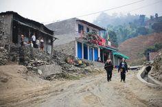 Trekking in Nepal.