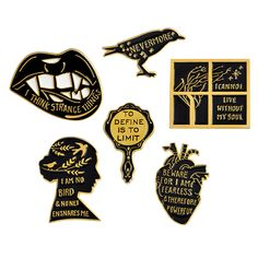 8f9e11401b6 Details about Gothic Pin Set Badge Creep Ghost Skeleton Goth Witch Brooch  Lapel Pins Halloween