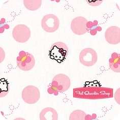 Hello Kitty Pink Dots and Butterflies Yardage SKU# 45981-C470715