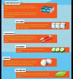 Acne remedies. Been doing the ice for years. Aspirin seriously works too!
