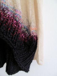 Alpaca Hand and Machineknit W2015 Long by CONSTRUCTIONKNITTING