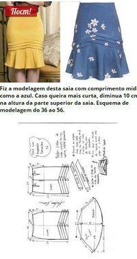 Cross-curved bell skirt...
