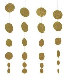 Creative Converting Glitz Gold Hanging Décor, Diecut Glitter Circle Garland, 4 Strands Per Package: Toys & Games Sweet 16 Party Decorations, Gold Wedding Decorations, Bachelorette Party Decorations, Garland Wedding, Decor Wedding, Birthday Decorations, Green Glitter, Silver Glitter, Circle Crafts
