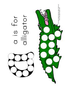A is for Alligators Pom Pom print out Preschool Letters, Preschool Themes, Preschool Lessons, Alphabet Activities, Book Activities, Toddler Activities, Preschool Activities, Summer Camp Crafts, Camping Crafts