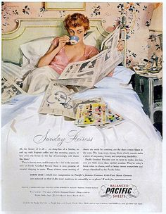 Pacific Sheets ad, 1949 by christine592, via Flickr