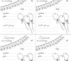 Znalezione obrazy dla zapytania zaproszenie na urodziny szablon do druku