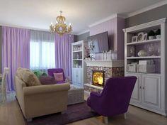 комната с камином и детской кроваткой в сиреневых тонах: 9 тыс изображений найдено в Яндекс.Картинках Decorating Small Spaces, Decorating Ideas, Home Decor, Purple, Pink, Rooms, Interiors, House, Bedrooms