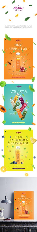 Rejoov Cold Pressed Juices posters on Behance