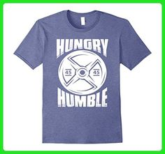 Mens Hungry and Humble Gym Workout T shirt XL Heather Blue - Workout shirts (*Amazon Partner-Link)