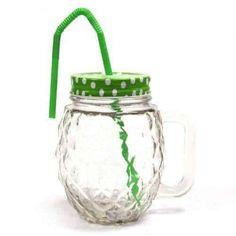 Funky Mason Jar - Gjør deg klar til sommeren - Lightsheep. Jaba, Toffee, Mason Jars, Tableware, Glass, Design, Pineapple, Summer, Sticky Toffee
