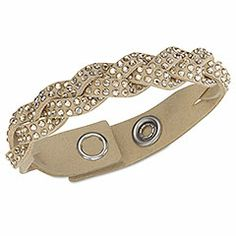 Swarovski Slake Golden Shadow Braid Bracelet